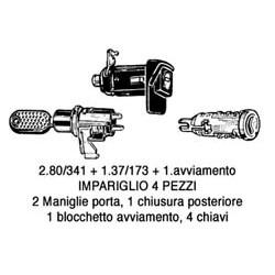 KIT CHIUSURE PORTA FI PANDA 1980> C/BLOCCASTERZO